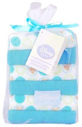 Disney Winnie the Pooh 8 Pack Terry Washcloths - Blue by