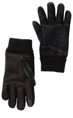Levi's Faux Fur Lined Mixed Media Gloves