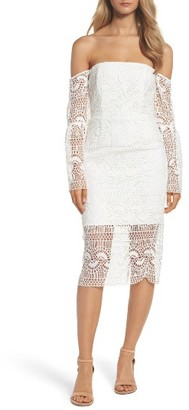 Women's Bardot Off The Shoulder Sheath Dress $139 thestylecure.com