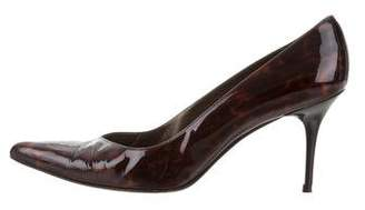 Stuart Weitzman Patent Leather Pointed-Toe Pumps