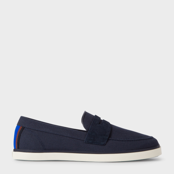 Paul Smith Men's Navy Canvas 'Cheree' Slip-On Trainers