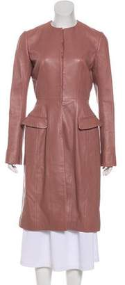 Christian Dior Long Leather Coat