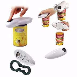 Kadell One Touch Automatic Electric Can Tin Bottle Opener Tool No Hand Battery Operated