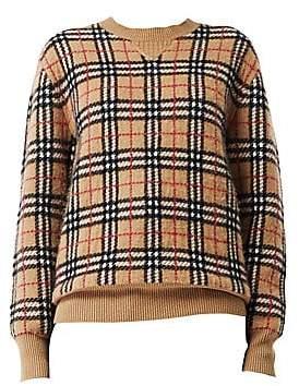 Burberry Women's Banbury Vintage Check Cashmere Sweater