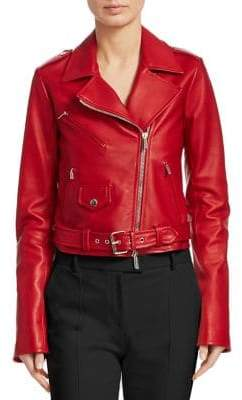 The Row Perlin Leather Moto Jacket