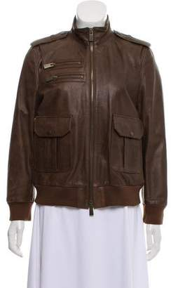Anine Bing Leather Bomber Jacket