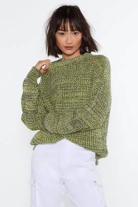 Nasty Gal Life in Color Knit Sweater