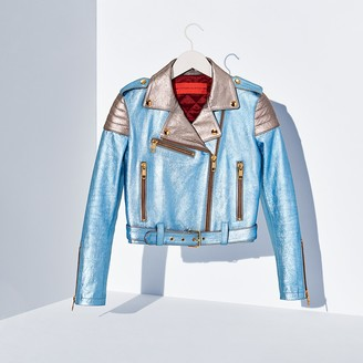 Metallic Leather Jacket $890 thestylecure.com