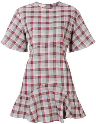 MAISON KITSUNÉ checked a-line dress