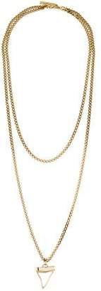 Givenchy Crystal Shark Tooth Double-Strand Necklace