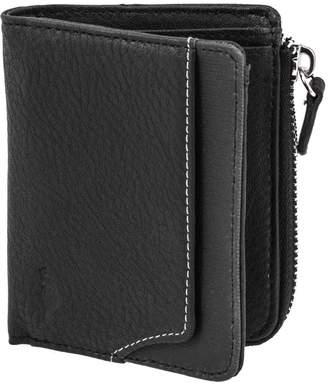 Roots 73 Slim Bi-Fold Wallet with Zipper Pocket