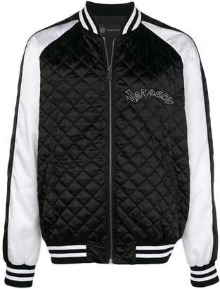Versace satin bomber jacket