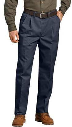 Dickies Genuine Men's Flat-Pleated Comfort Waist Pants