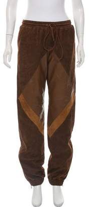 Chloé Mid-Rise Suede Joggers w/ Tags