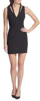GUESS V-Neck Mini Sheath Dress