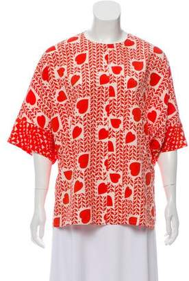 Stella McCartney Printed Silk Top