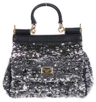 Dolce & Gabbana Mini Sequin Miss Sicily Bag