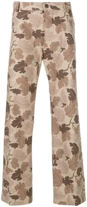 Walter Van Beirendonck leaf print trousers