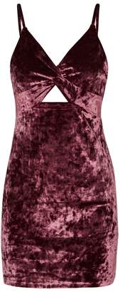 Free People Come Together Stretch-velvet Mini Dress