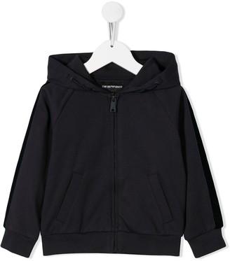 Emporio Armani Kids zip front hoodie