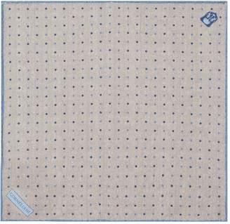 Corneliani Herringbone Dot Pocket Square