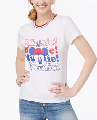 Freeze 24-7 Juniors' Minnie Cotton Graphic-Print T-Shirt