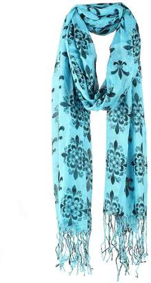 Judys Fashion Fleur De Lis Lightweight Women Scarf Wraps with Tassels