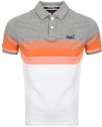 Superdry Longbeach Polo T Shirt Grey