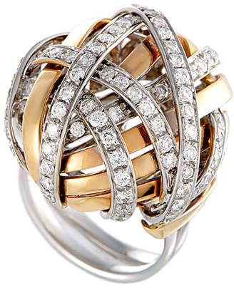 Damiani 18K Two-Tone 1.60 Ct. Tw. Diamond Tangled Dome Ring