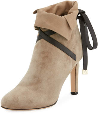 Jimmy Choo Dalal Suede Ankle-Wrap Boots