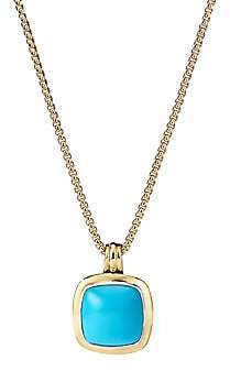David Yurman Albion 18K Yellow Gold & Turquoise Pendant