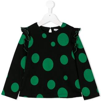 Piccola Ludo dot knitted top