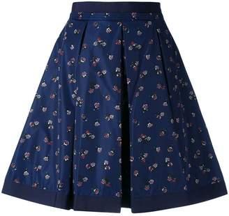 Moncler flower print skirt