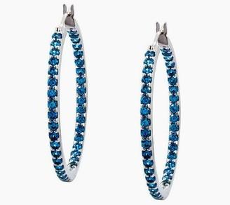 Diamonique Sterling 1.45 cttw Colorful Inside-O ut Hoop Earrin
