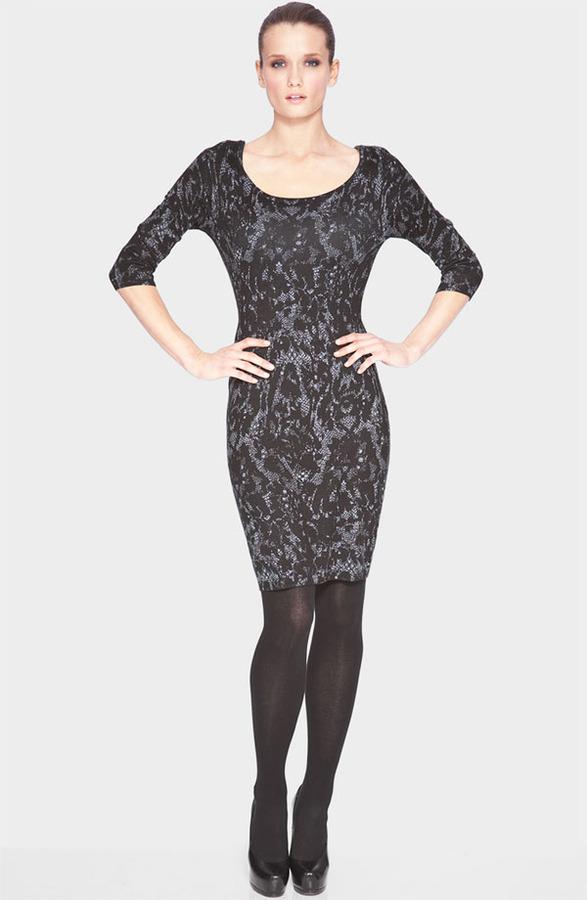 Marc New York Lace Print Sweater Dress