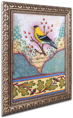 Trademark Global Rachel Paxton 'Lc Goldfinch' Ornate Framed Art