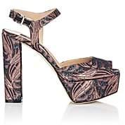 Sergio Rossi Women's Metallic Platform Sandals - Pink