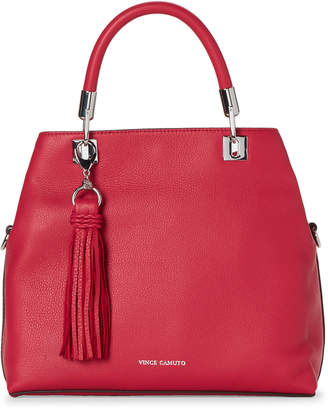 Vince Camuto Raspberry Tassel Leather Satchel