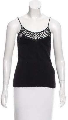 Raquel Allegra Crochet-Accented Sleeveless Top w/ Tags