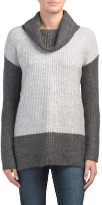Cowl Neck Boxy Pullover Sweater