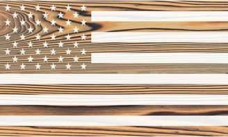 Gracie Oaks 'American Flag' Graphic Art Print on Wood