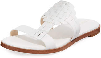 Cole Haan Findra II Flat Huarache Woven Leather Slide Sandals