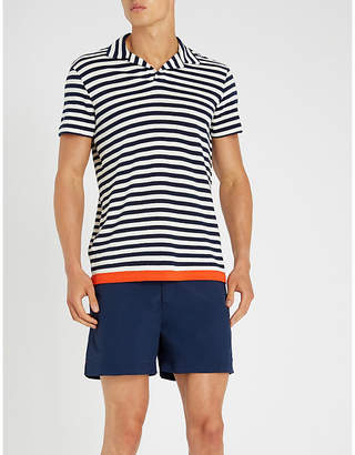 Orlebar Brown Felix striped cotton-jersey polo shirt