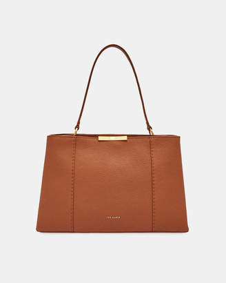 Ted Baker CAMIELI Faceted bow leather tote bag