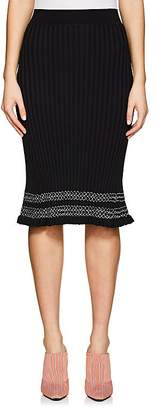 Altuzarra Women's Gwendolyn Contrast-Stitched Rib-Knit Skirt