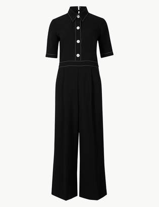 Marks and Spencer Short Sleeve Cropped Jumpsuit