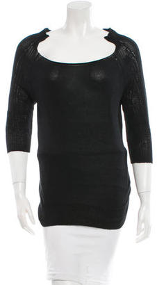 Yohji Yamamoto Silk-Blend Knit Top $85 thestylecure.com