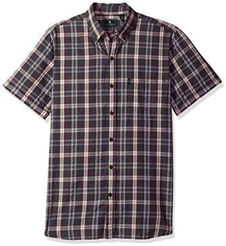 G.H. Bass & Co. Men's Short Sleeve Seersucker Plaid Shirt