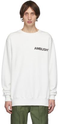 Ambush SSENSE Exclusive White Logo Crewneck Sweatshirt