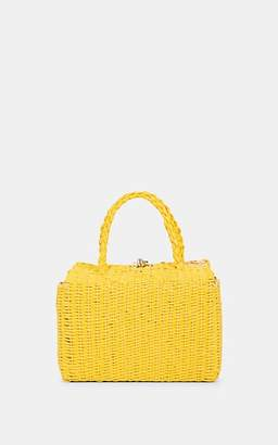 FiveSeventyFive Women's Straw Satchel - Yellow